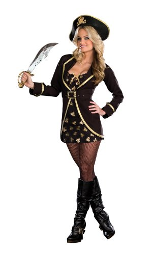 Dreamgirl-Womens-Pirate-Appeal-Coat-Dress-Gold-Large-0-0