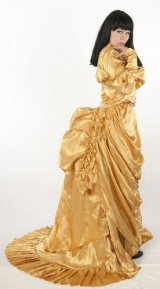 Dress-Like-A-Pirate-Brand-1869-Satin-Bustle-Skirt-Real-Clothing-not-Costume-UK24-New-Gold-0-2