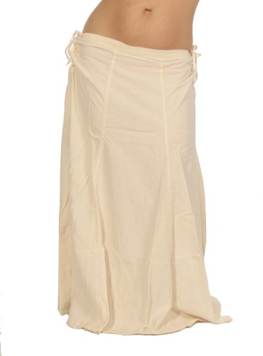 Dress Like A Pirate Brand Modern take on a Medieval Kirtle Skirt (XL, Natural/Ivory/Unbleached)