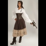 Dress-Like-A-Pirate-Brand-Steampunk-Victorian-2-Layer-Adjustable-Mid-Length-Persephone-Bustle-Skirt-KhakiBrown-UK14-0-4