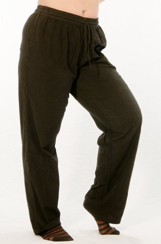 Dress-Like-A-Pirate-Easy-Fit-Elastic-Waist-Heavy-Cotton-LARP-Pants-Medium-Black-0-0