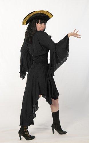 "Dress Like A Pirate Romantic Renaissance LARP ""Lady Cutlass Dress or Blouse (O/S, Black)"