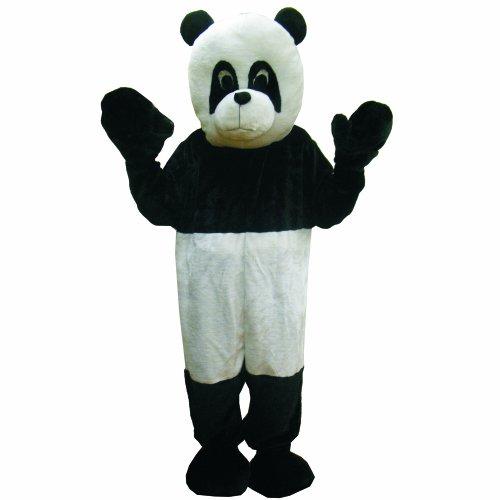 Dress Up America Panda Bear Mascot, Black/White, One Size