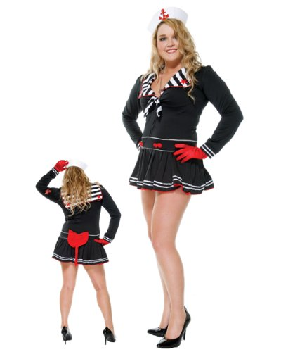 Forplay Women's Deckhand Darling Adult Sized Costumes, Black, Plus Size