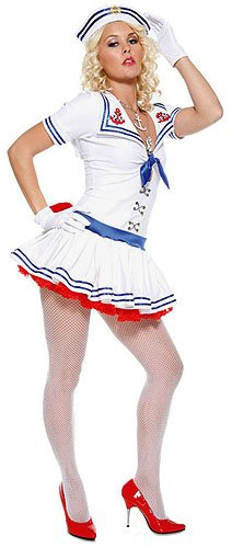 Forplay Women's Sailor Sweetie Adult Sized Costumes, White, Small/Medium