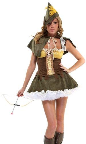 Forplay Women's Sassy Swindler Costume Set, Green, X-Small/Small