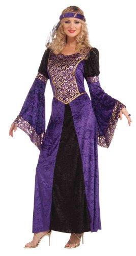 Forum Medieval Maiden Deluxe Costume, Purple/Black, Standard