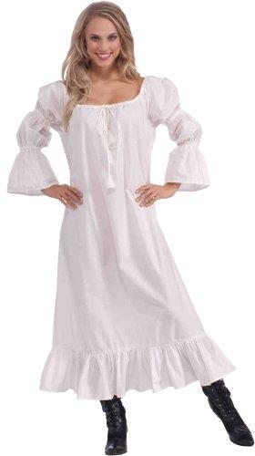 Forum Novelties Women's Medieval Chemise Costume Accessory, White, One Size