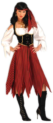 Forum Novelties Women's Pirate Maiden Plus Size Costume, Red, Standard X-Large (6-22)