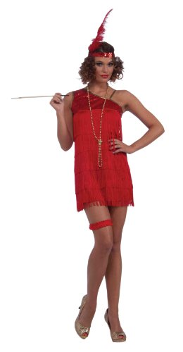 Forum Ruby Dazzle Flapper Dress, Red, Standard Costume