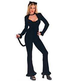 FunWorld Sexy Feline Costume, Black, 2-8 Small