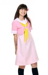 High-School-Uniform-Short-Sleeve-Pink-Small-0-1