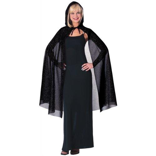 Hooded Glitter Cape Costume Accessory