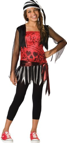 InCharacter Costumes Women's Pirate Lass, Red/Black, Small