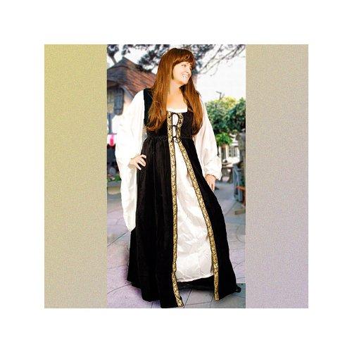 Italian Renaissance Gown (Medium, Navy)