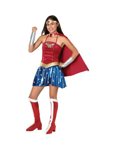 Justice League Teen Wonder Woman Costume, Red, Teen