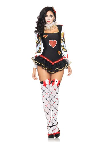 Leg Avenue 3 Piece Queens Guard Tutu Skirt Neck Head Piece Bodysuit With, Black, Large