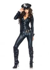 Leg-Avenue-4-Piece-Officer-Payne-Lame-Jumpsuit-Badge-Belt-And-Hat-Black-Large-0-2