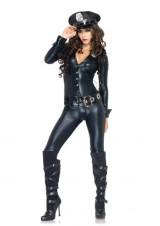 Leg-Avenue-4-Piece-Officer-Payne-Lame-Jumpsuit-Badge-Belt-And-Hat-Black-Large-0-3