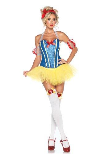 Leg-Avenue-4-Piece-Sultry-Snow-Sequin-Corset-Tutu-Skirt-With-Headband-YellowBlue-Large-0-0