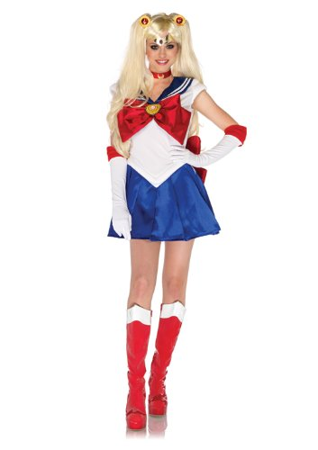 Leg-Avenue-Costumes-5PcSailor-Moon-Dress-Choker-Gloves-Headpiece-Hair-Clips-WhiteBlue-Medium-0-0