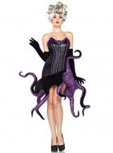 Leg-Avenue-Disney-2PcUrsula-Velvet-Dress-with-Tentacle-Skirt-and-Clear-Straps-BlackPurple-Medium-0-0