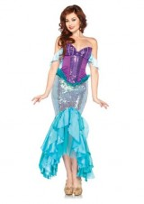Leg-Avenue-Disney-3-Pc-Deluxe-Ariel-Includes-Corset-Straps-and-Skirt-AquaPurple-Large-0-0