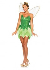 Leg-Avenue-Disney-5PcPixie-Dust-Tink-Sequin-Dress-Back-Bow-Straps-Wings-Pompom-Clips-Green-Large-0-0