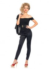 Leg-Avenue-Grease-3-Piece-Bad-Sandy-Off-The-Shoulder-Top-And-Skin-Tight-Pants-With-Belt-Black-Small-0-0