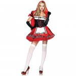 Leg-Avenue-Women-S-Divine-Miss-Dress-With-Padded-Bra-And-Attached-Hood-Multicoloured-Small-0-0