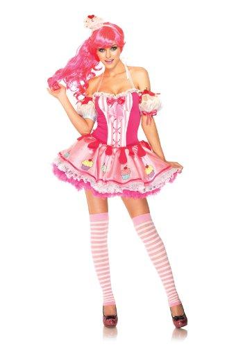 Leg-Avenue-Womens-3-Piece-Babycake-Halter-Dress-with-Cupcake-Arm-Puffs-And-Cup-Cake-Headband-Pink-MediumLarge-0-0