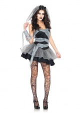 Leg-Avenue-Womens-3-Piece-Dead-And-Buried-Bride-Dress-with-Wrap-BlackGrey-Large-0-0