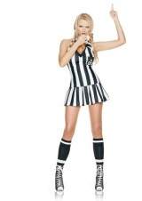Leg-Avenue-Womens-3-Piece-Referee-Costume-Includes-Whistle-And-Halter-Dress-BlackWhite-MediumLarge-0-0