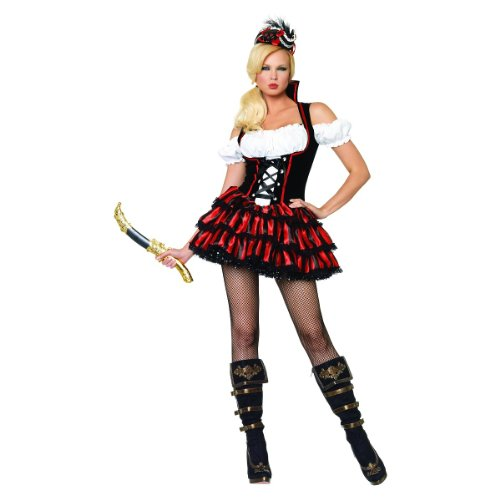 6-22 Multi Forum Novelties Womens Pirate Maiden Plus Size Costume Standard X-Large