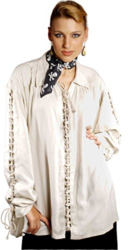 Medieval Poet's Pirate Patrickson Shirt Costume [Natural] (X-Large)