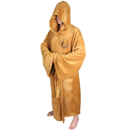 (Medium) Star Wars Mens Fleece Dressing Gown-Jedi