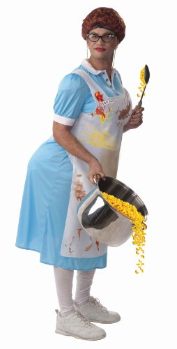 Forum Novelties Mildred The Lunch Lady Costume, Blue, One Size