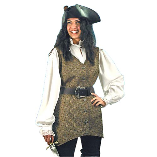 Pirate Clothing for Women – Mary Read Pirate Vest – L/XL – Halloween Costume