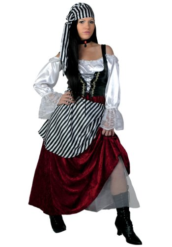 Pirate Wench Costume (X-Large) (X-Large (16-18))
