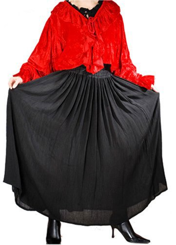 Pirate Wench Renaissance Medieval Costume Skirts (X-Large, Black)