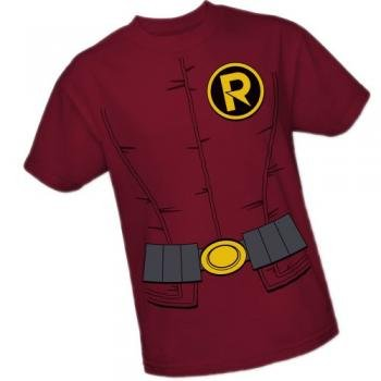 Robin Costume — DC Comics – The New 52 Adult T-Shirt, XXX-Large
