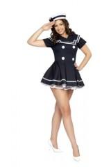 Roma-Costume-2-Piece-Pin-Up-Captain-As-Shown-Navy-Blue-MediumLarge-0-1