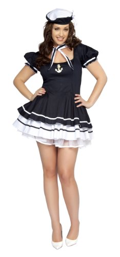 Roma Costume 3 Piece Sailor Sweetie As Shown, Navy Blue, XX-Large