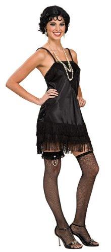 Rubie's Costume Deluxe Black Flapper, Black, Small Costume
