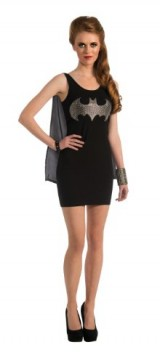 Rubies-DC-Comics-Justice-League-Superhero-Style-Adult-Dress-with-Cape-Rhinestone-Batgirl-Black-Small-Costume-0-0