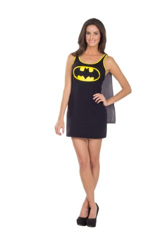 Rubies-DC-Comics-Justice-League-Superhero-Style-Teen-Dress-with-Cape-Batgirl-Black-Small-Costume-0-0