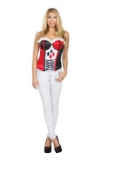Secret-Wishes-DC-Comics-Justice-League-Superhero-Style-Adult-Corset-Top-with-Logo-Harley-Quinn-Red-Medium-0-0