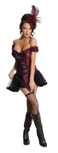 Secret Wishes Womens Playboy Cabaret Costume, Purple, Small