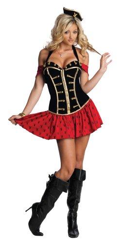 Secret Wishes Womens Playboy High Seas Honey Costume, Black/Red, Small
