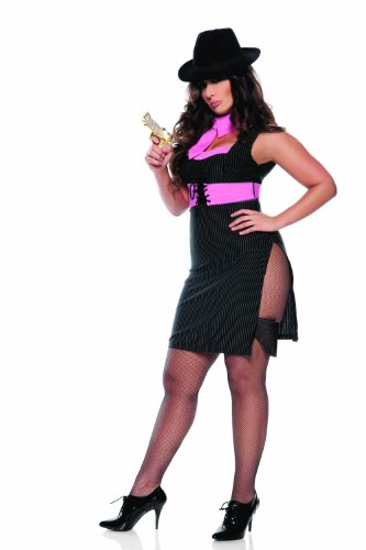 Seven Til Midnight Women's Ms. Gangster,Black,3X/4X